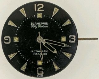 Vintage Rare Blancpain Fifty Fathoms Rotomatic 17 Jewel Auto Watch Movement