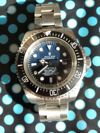 Rolex Deepsea Sea - Dweller Blue Dial Steel Automatic Mens Watch