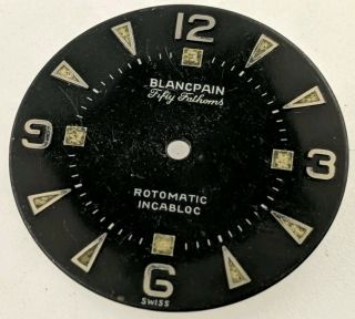 Vintage Blancpain Fifty Fathoms Rotomatic Dial With Patina