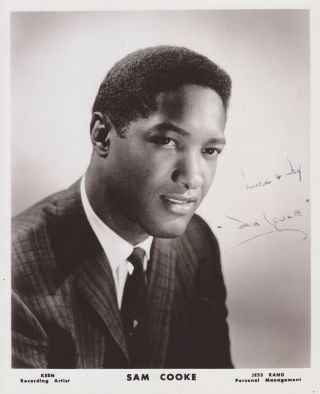 Sam Cooke Signed Autograph 8x10 Photo 1960s Singer And Songwriter Rare