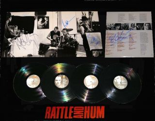U2 Signed Rattle And Hum Record Album Rare Bb King Signed