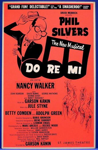 Triton Offers Rare Orig 1960 Broadway Poster Do Re Mi Phil Silvers Nancy Walker