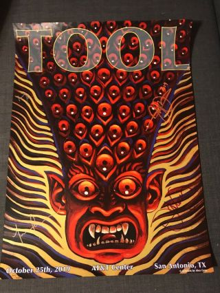 Tool Signed Tour Poster - San Antonio 10/25/2019 - Alex Grey -