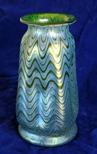 Classic Signed Decorated Loetz Iridescent Art Glass Vase
