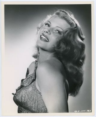 Vintage 1947 Glamorous Rita Hayworth Photograph Down To Earth Ned Scott Portrait