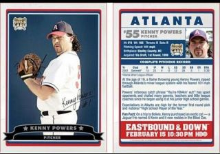 Kenny Powers Baseball Card