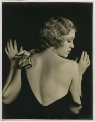 Large Format 1930s Dorothy Dix Hollywood Regency Glamour Photograph