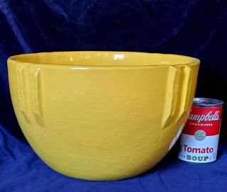 "Bauer Pottery Large Size 11 "" Indian Pot Gloss Yellow"