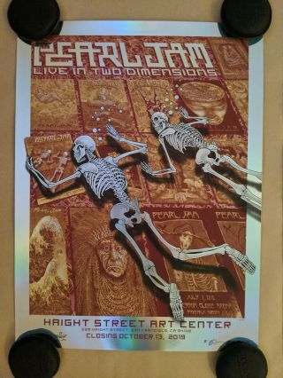 Emek Pearl Jam Live In Two Dimensions Haight Street Print Poster Closing Foil