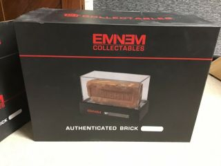 Eminem Signed Authenticated Brick And Dog Tag From Slim Shady's Childhood Home. 3