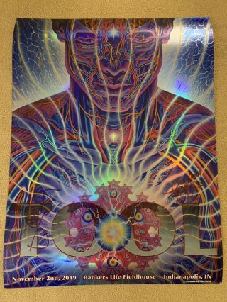 Tool Band Signed By All Poster Alex Grey Indianapolis Nov 2,  2019.  149