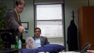Steve Carell Screen Worn Wardrobe Prop The Office - Ep Michael Scott Burns Foot
