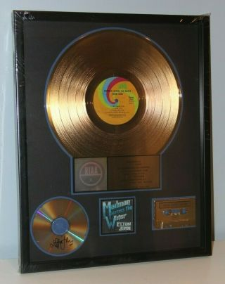 Elton John Madman Across The Water Riaa Award Presented To And Signed By Elton