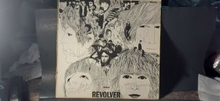 """The Beatles Autographed """" Revolver """" Lp - John,  Paul,  George,  Ringo - With"""