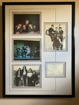The Beatles Signed 6x3 Card With