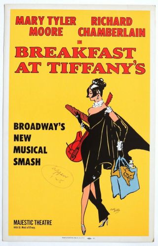 Triton Offers Orig 1966 Broadway Poster Breakfast At Tiffany