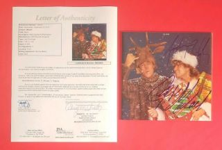 "George Michael And Andrew Ridgeley Signed Wham "" Last Christmas "" With Jsa Psa"