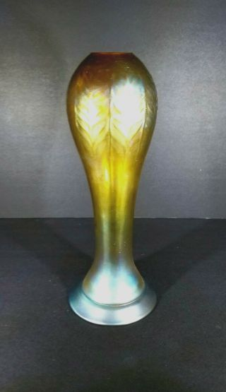 Great 12 Inches Tall Signed L.  C.  Tiffany Favrile Vase From $1499.  99