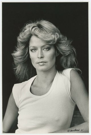 Iconic Tv Angel Farrah Fawcett Vintage 1975 Alan Pappé Hand Signed Photograph