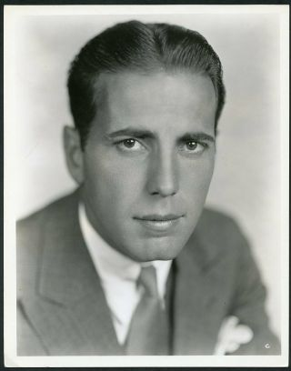 Humphrey Bogart Vintage 1930s Fox Film Portrait Dblwt Photo