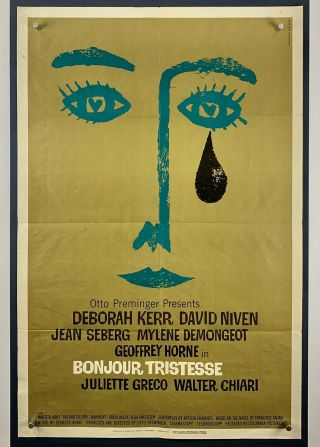 Bonjour Tristesse Movie Poster One Sheet 1958 Saul Bass Otto Preminger