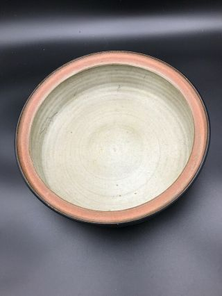 """Rare Harrison McIntosh Ceramic Bowl/ Vessel With Lid Modern Pottery Stamped 7"""" 4"""