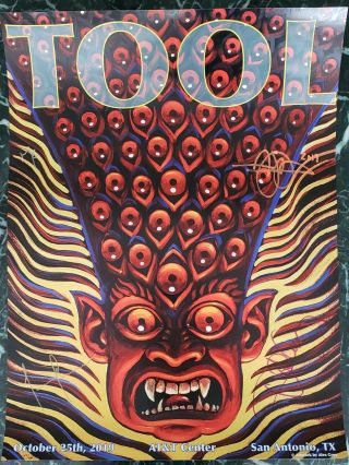 Signed Tool Concert Poster From San Antonio 10/25/2019 - Rare Alex Grey Print