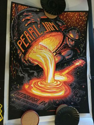 Pearl Jam Concert Poster - Munk One - Pittsburgh 2013