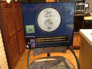 Phil Collins Signed Drumsticks / Signed Drumhead (case Not Incl. )