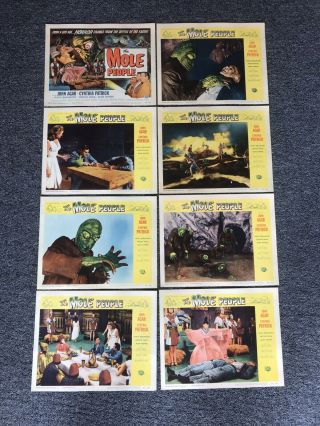 Set Of 8 Lobby Cards The Mole People 1956.  Monster Halloween
