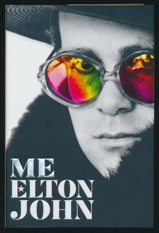 "Elton John Beautifully Signed "" Me "" 1st Edition,  1st Printing Hard Cover Book"