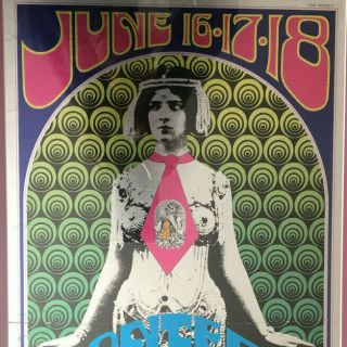 Monterey Pop - 1967 Foil Concert Poster - Small Version -