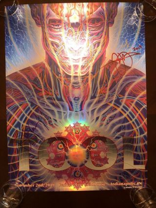 Tool Signed Poster/print - Indianapolis 11/02/19 - Limited Edition - Alex Grey