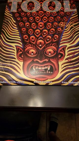 Tool San Antonio Authentic Autographed Concert Poster Art Work By Alex Grey