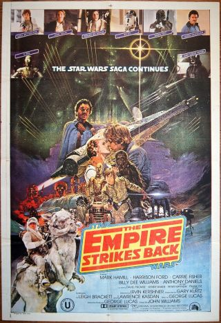 Indian 1 - Sheet Ohrai - Art Empire Strikes Back Movie Poster George Lucas Star Wars