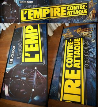 France 26x108 Banner Star Wars Empire Strikes Back 1980 French Movie Poster Rare