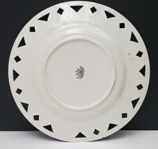 Antique Irish Belleek 2nd Black Mark Scenic Portrait Plate On the Shannon 4