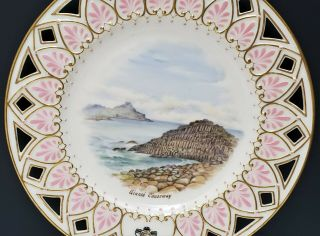 Antique Irish Belleek 2nd Black Mark Scenic Portrait Plate Giants Causeway 2