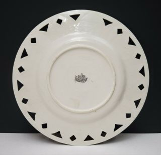 Antique Irish Belleek 2nd Black Mark Scenic Portrait Plate Giants Causeway 4