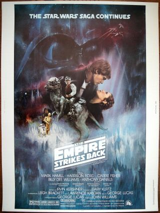Us 30x40 Star Wars The Empire Strikes Back 1980 Nss Issued Movie Poster