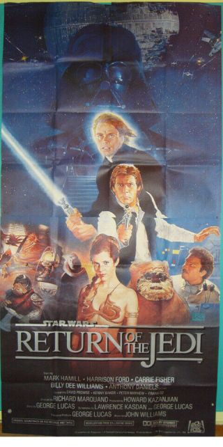 Star Wars:episode Vi - Return Of The Jedi - Sci - Fi - H.  Ford - G.  Lucas - 3sh (41x81 Inch)