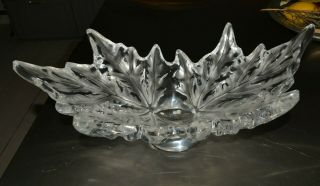 "Pp Magnificent Lalique Champs - Elysees Bowl Sign.  Labeld 7 1/4 "" H X 18 "" X 9 3/4"