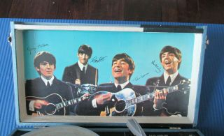 Beatles 1964 BEATLES PHONOGRAPH RECORD PLAYER IN GREAT SHAPE 7