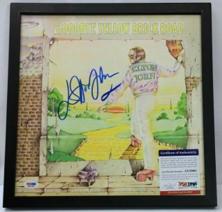 Elton John Signed Goodbye Yellow Brick Road Album Vinyl Lp Autograph W/ Psa