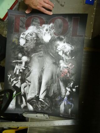 Tool Houston Toyota Center Oct 27 2019 Signed Poster 114 Of 650 Total Posters
