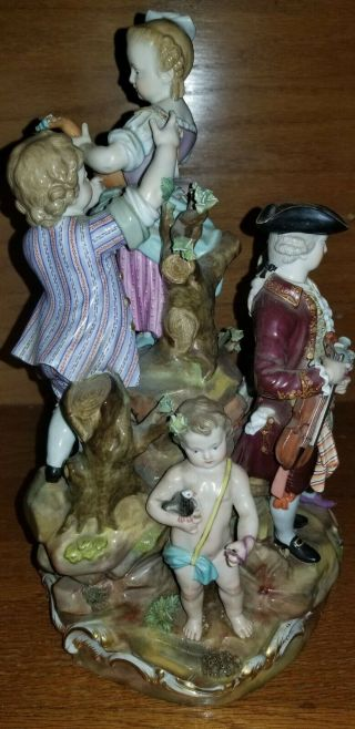 19th Century Meissen Porcelain Group,  Very Large Piece 5