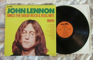Beatles OUTSTANDING 1975 JOHN LENNON ' ROOTS ' AUTHENTIC LP NEAR W INNERS 3