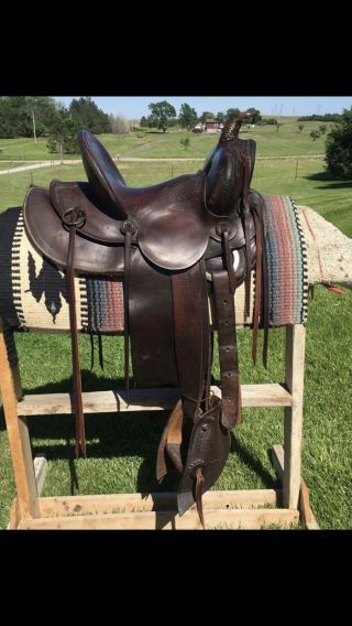 Historical Vintage Saddle Russ Hayden's Marks Brothers Omaha