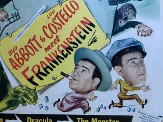 Abbott And Costello Meet Frankenstein (Universal 1948) Half Sheet (22x28) NM, 5