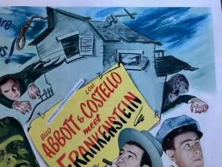Abbott And Costello Meet Frankenstein (Universal 1948) Half Sheet (22x28) NM, 7